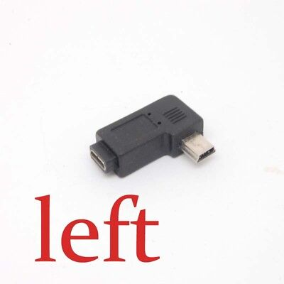 Mini USB Type A male to Micro USB B feMale 90 Degree right/left Angle Adapter BX