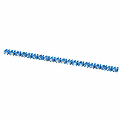 """20Pcs Letters """"R"""" Network Cable Labels Markers Blue for 4.0-6.0mm Dia Wire"""