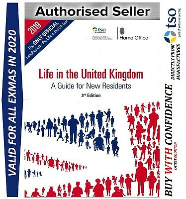 Latest Official Life in the United Kingdom UK Handbook Test Book ILR 2018 'Lf