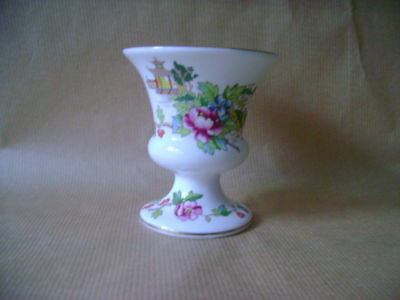 Small Crown Staffordshire Vase With Coloured Willow