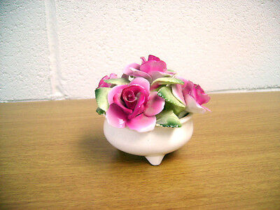 Crown Staffordshire Footed Bowl Of Pink Roses