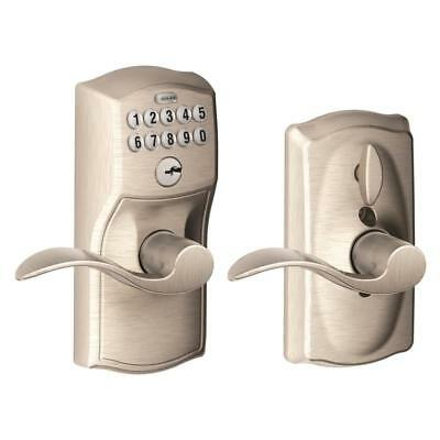 Schlage FE595 CAM 619 ACC Camelot Keypad Entry with Flex-Lock and Accent Levers