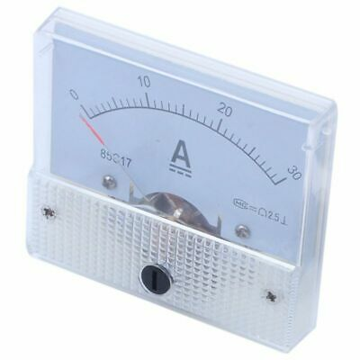 DC 0-30A Analog Amp Meter Ammeter Current Panel + 30A 75mV Shunt Resistor U7P2