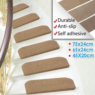 Morden Beig Nonslip Carpet Stair Treads Mats Staircase Step Rug Protection Cover