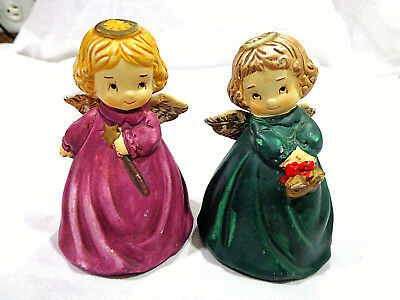 vintage porcelain bells,angel girls
