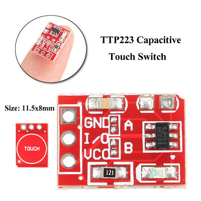 TTP223 Capacitive Touch Switch Button Self Lock Module For Arduino 2.5-5.5V, US