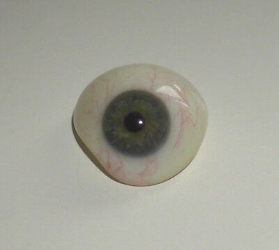 VINTAGE PROSPHETIC GLASS EYE BLUE / GREY ANTIQUE RARE EARLY 20th CENTURY   (666)