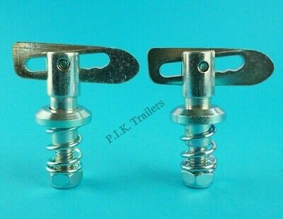 2 x Spring Loaded Antiluce Fastener Trailer Pick-up Tail Gate Drop Catch Brewery