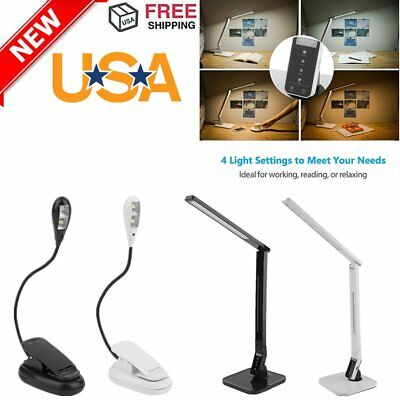 Touch Sensor 27 LED Light Dimmable Desk Table Reading Book Lamp 530lm + Power X9
