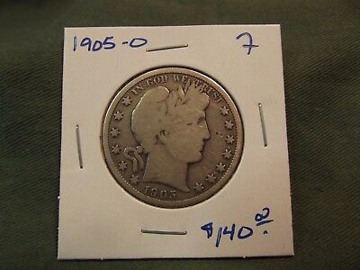 1905O F silver Liberty Barber Half Dollar, see our store for more, 1905-O