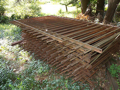 ANTIQUE WROUGHT IRON FENCING 1870s ALMOST 200 FEET GOOD CONDITION
