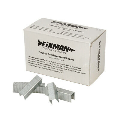 Fixman 10J Galvanised Staples 5000 pack 11.2 X 14 1.16mm