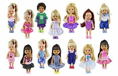 ZITA ELEMENT Lot 6 PCS Fashion Clothes Outfit for Barbie's sister Kelly Doll