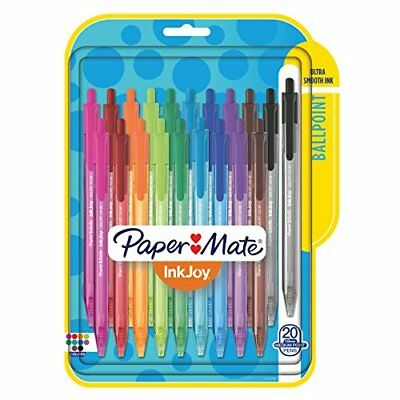 Paper Mate InkJoy 100RT Retractable Ballpoint Pens Medium Point Assorted 20 P...