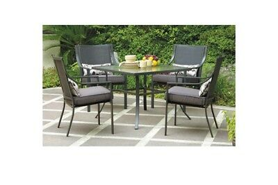 Mainstays Alexandra Square 5 Piece Patio Dining Set Grey With