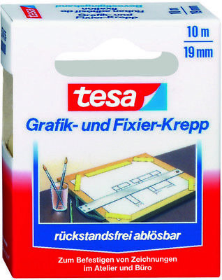 Tesa Tape ® 57415 Fixating and fixier-krepp 19mm x 10m Residue-free Removable