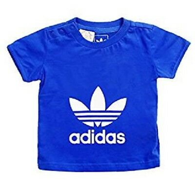 boys adidas t-shirt originals large logo trefoil girls baby infants tee top