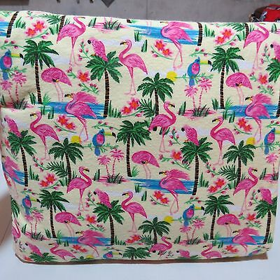 """Blanket in a Pillow ( Flamigo Theme) Snuggle Flannel - 61""""x 31"""""""