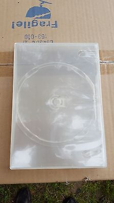 10 PREMIUM Clear OPEN BOX Single DVD Cases 14MM NEW FREE SHIPPING