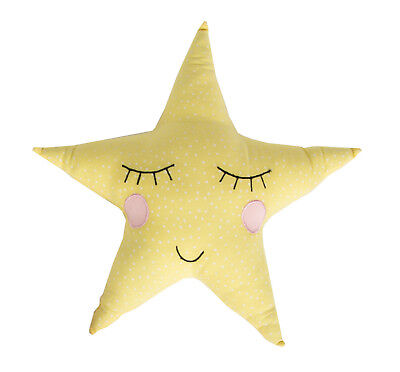 Nursery Cushion Yellow Polka Dot Pastel Star Children's Pillow Sass & Belle
