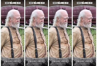 4x TRAGEDIES WAVE 2 GRAY HERSHEL GREENE Walking Dead Card Trader Digital