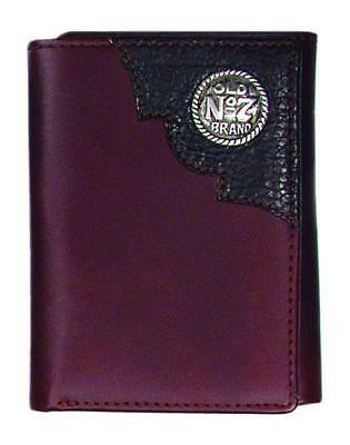 dcdd01d3c2029 Jack Daniels Trifold Wallet (Brown) with concho and embossed logo  (MSRP-42.99