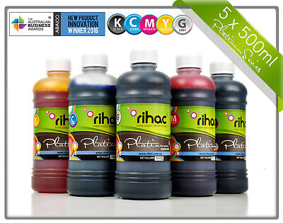 Rihac 500ml CLI651 PGI650 Refill Ink for Canon MG6360 MG7160 MG7560 IP8760 Grey
