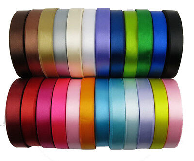 (25 YARDS) SATIN RIBBON roll craft xmas presents wedding party holiday gift wrap