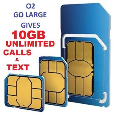 Official O2 Network Pay As You Go 02 Sim Card Sealed Unlimited Calls And Text*