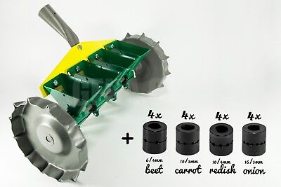 Garden Metal Precision Seeder Vegetable 4 Row Manual Planter sowing small seeds