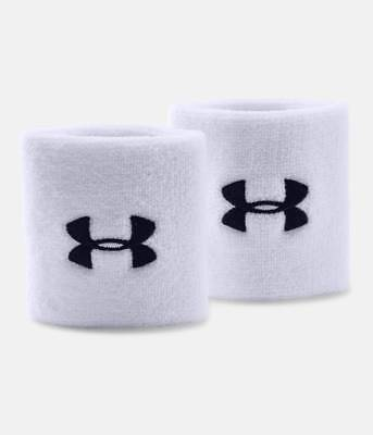 "UNDER ARMOUR Youth Boys 3"" Performance Pair Wristbands Basketball Tennis Unisex"