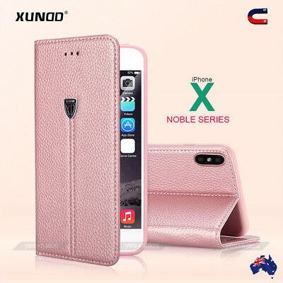 Genuine XUNDD Magnetic Leather Wallet Card Holder Case Cover for iPhone XS X