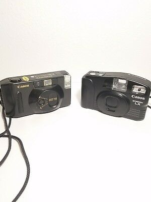 Lot of 2 Vintage Canon Snappy S and Snappy XL 35MM Point & Shoot Camera UNTESTED
