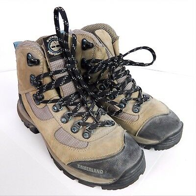 307ff21d7808 Timberland Outdoor Performance Womens Tan Hiking Boots Size 6M Genuine  Leather