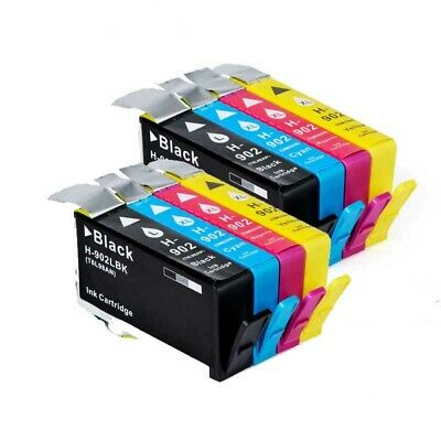 HIGH Yield 8 INK NON-OEM for HP 902XL OfficeJet 6954 6962 6968 6978 HP902XL