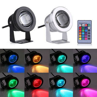 10W RGB LED Light Fountain Pool Pond Spotlight Underwater Waterproof 12V Boat