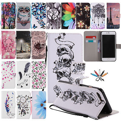 For iPhone 7 8 Plus Magnetic Wallet Card Holder Stand PU Leather Case Flip Cover