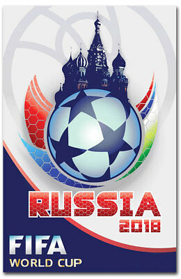 """Russia 2018 World Cup Fridge Magnet Size 2.5"""" x 3.5"""""""