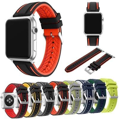 Sport Wristwatch Band Soft Silicone Color Bracelet Montre 38/42mmFor Apple Watch