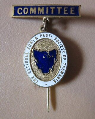 National Agricultural & Pastoral Society Of Tasmania Committee Badge With Pin