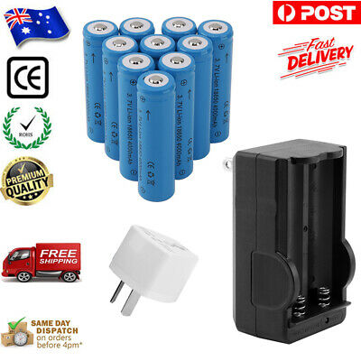 6 X 18650 3.7V Li-ion 6000mAh Protected Rechargeable Lithium Flashlight Battery