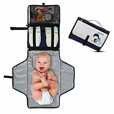 6c69daf5a809 PORTABLE BABY DIAPER Changing Pad Kit - Lightweight Travel Changing ...