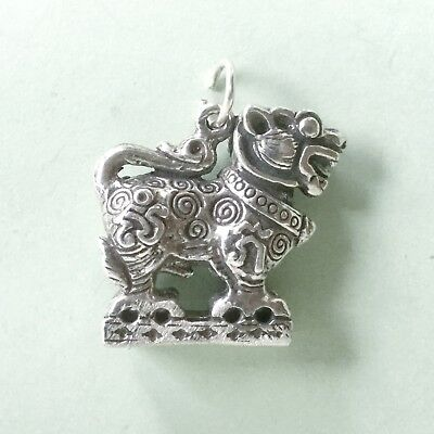 HEAVY Extra LARGE DRAGON Chinese zodiac - sterling silver charm pendant
