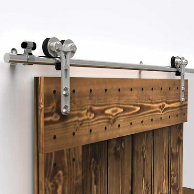 Stainless Steel Sliding Barn Wood Door Hardware Closet Track Kit Single/Double