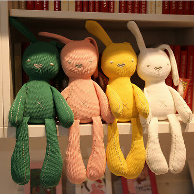 USA Cute Bunny Soft Plush Toys Rabbit Stuffed Animal Baby Kids Gift Animals Doll