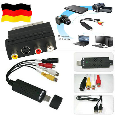 USB 2.0 EasyCAP  Audio Video Adapter Capture Grabber VHS-DVD TV  Konverter Karte