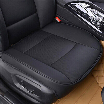 Brown PU Leather Deluxe Car Cover Seat Protector Cushion Front Cover Universal