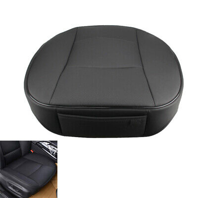 PU Leather Deluxe Car Cover Seat Protector Cushion Front Cover Universal Beige