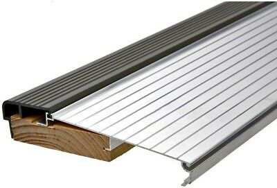 Frost King Door Threshold E/O 5-5/8 in. x 3 ft. Silver & Brown Fixed Sill