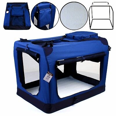 Dog Cat Fabric Carrier Folding Crate Cage Travel Carry Foldable Puppy Pet Bag